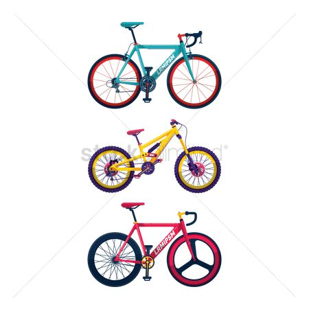 Cycle : Set of mountain bike icons