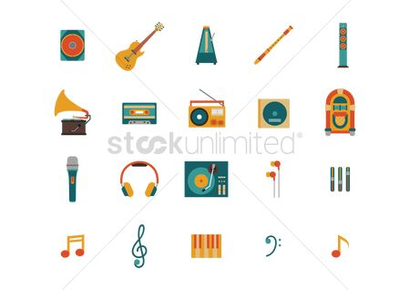 Melody : Set of music icons