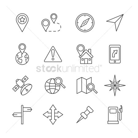 Marker : Set of navigation icons