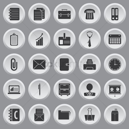 Dairies : Set of office icons