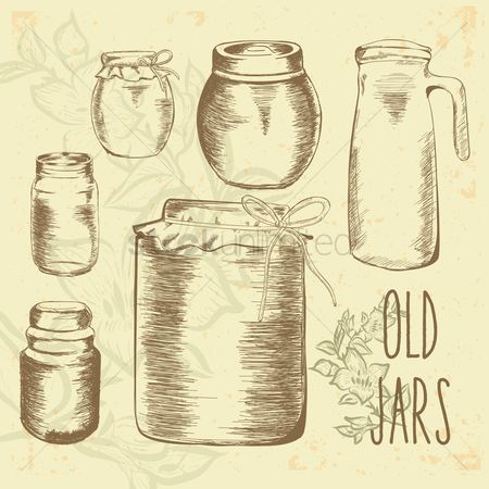 Jar : Set of old jars