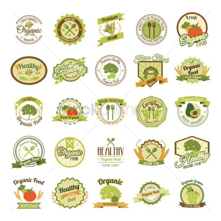 Fresh : Set of organic labels