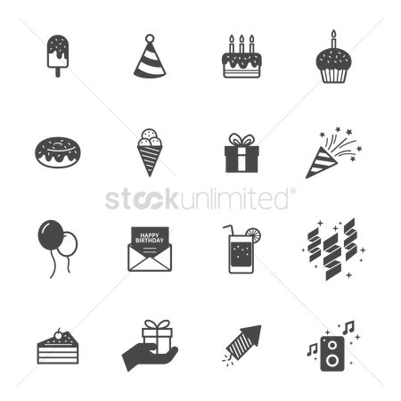 Cones : Set of party icons