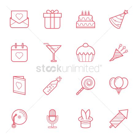 Champagnes : Set of party icons