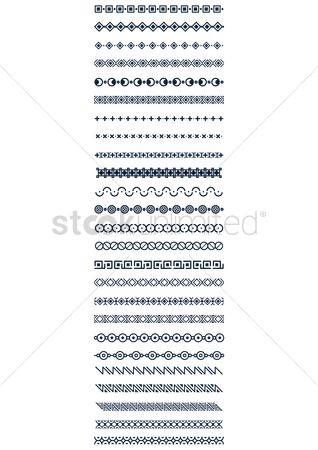 Moon : Set of pattern border designs