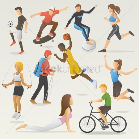 Soccer : Set of people doing different activities