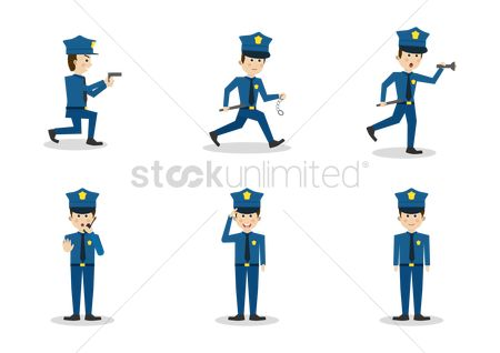 Shield : Set of policeman icons