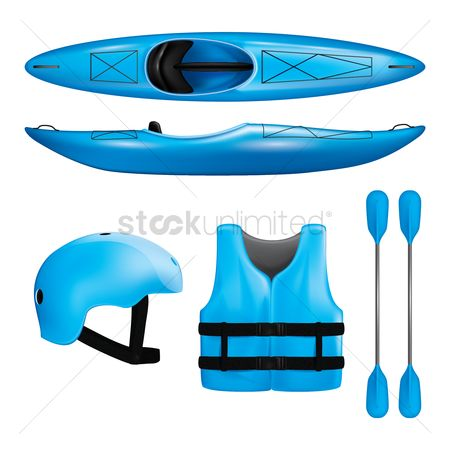 Surfboards : Set of rafting icons