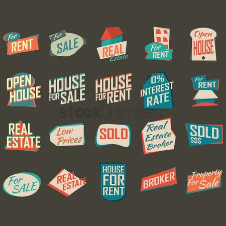 Sold : Set of real estate icons