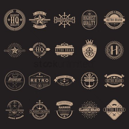 Classic : Set of retro design elements