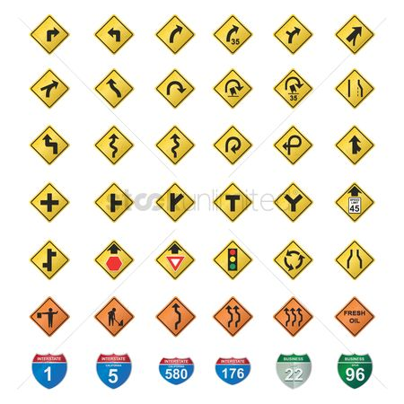 Marker : Set of road signs