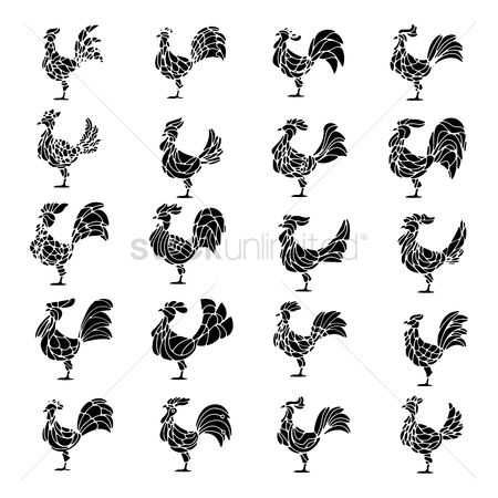 Roosters : Set of roosters