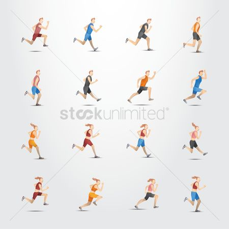 Athletes : Set of runners
