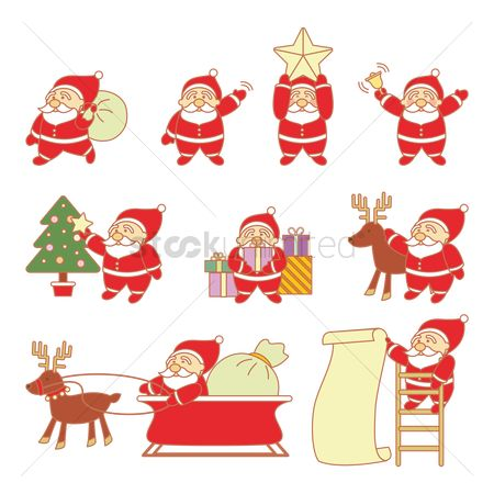 Santa : Set of santa claus