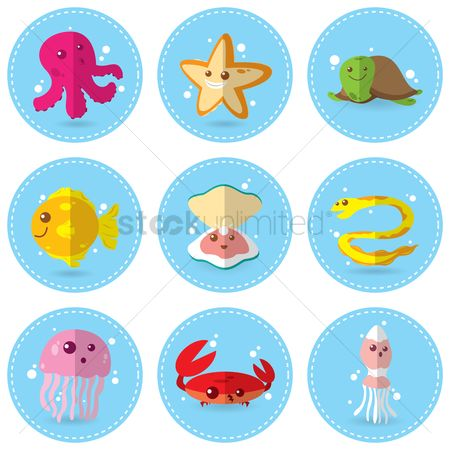 Ocean : Set of sea animals