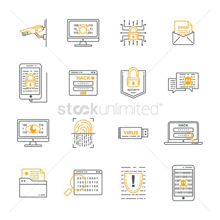 Email : Set of security icons