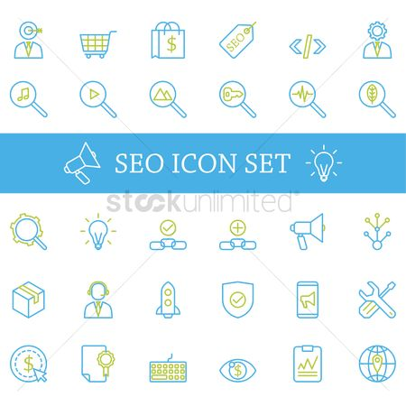 Building : Set of seo icons