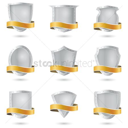 Shield : Set of shield emblems
