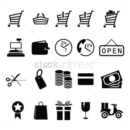 Gifts : Set of shopping icons