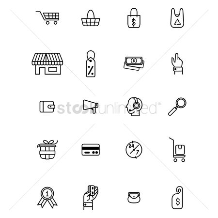 Handbags : Set of shopping icons