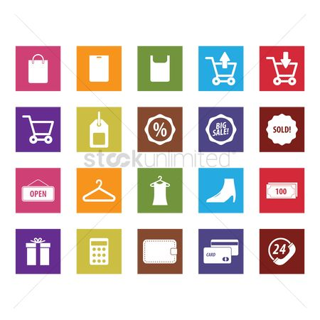 E commerces : Set of shopping icons