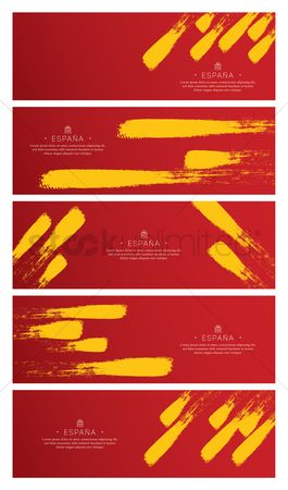 Nationality : Set of spain flag backgrounds