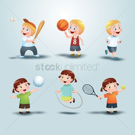 Kids : Set of sports icon