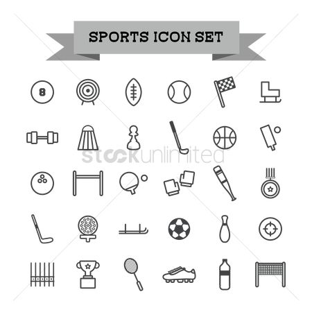 Boxing glove : Set of sports icons
