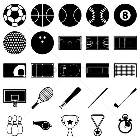 Whistle : Set of sports icons