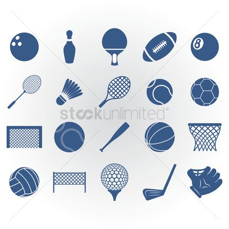 Paddle : Set of sports icons