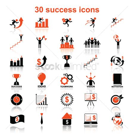 Race : Set of success icons