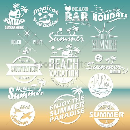 Season : Set of summer holidays wallpapers