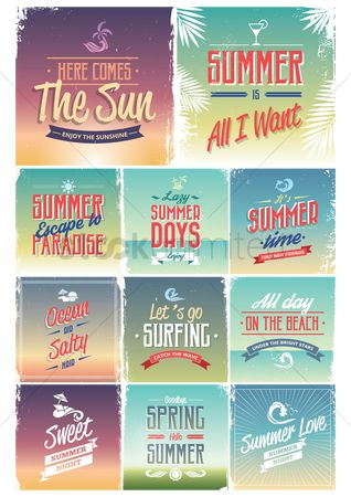 Time : Set of summer wallpapers