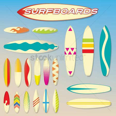 Recreation : Set of surfboards