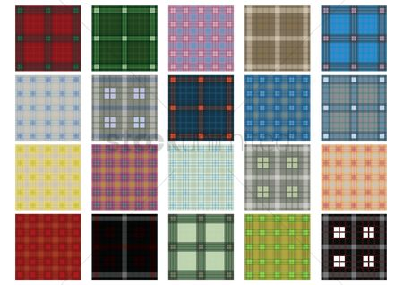 Cloth : Set of tartan backgrounds
