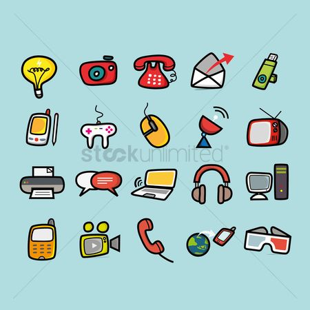 Technology : Set of technology icons