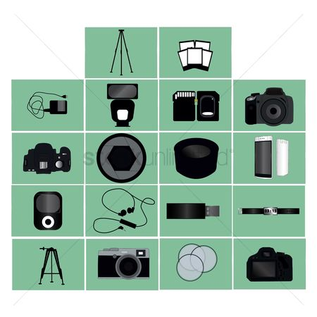 Snapping : Set of technology icons