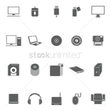 Routers : Set of technology icons