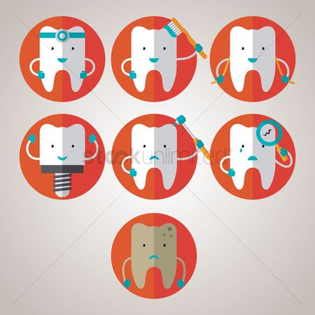 Dentist : Set of tooth icons