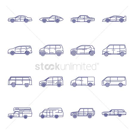Automobile : Set of transportation icons