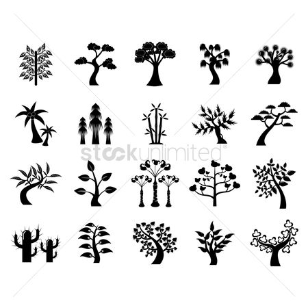 Stems : Set of tree icons
