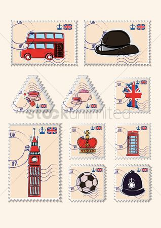 Teapot : Set of united kingdom postage stamps