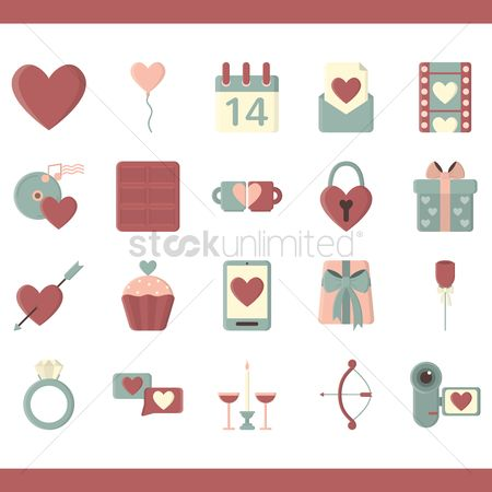 Valentines day : Set of valentines day icons