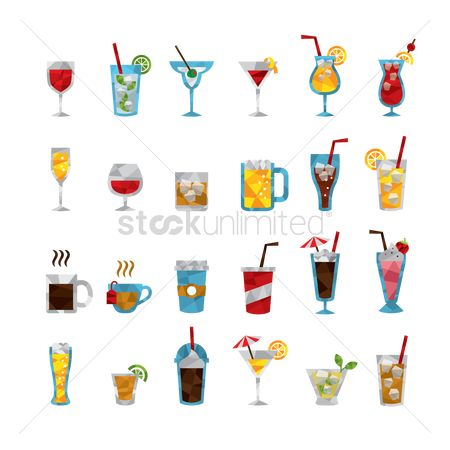 Drinking : Set of various drinks
