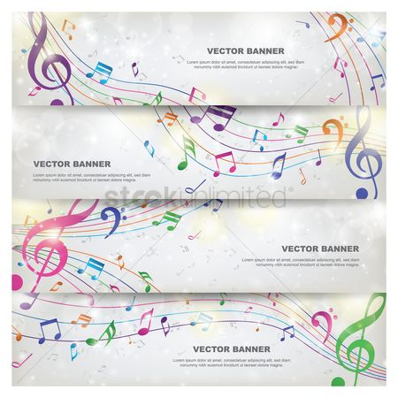 Copy spaces : Set of vector banners