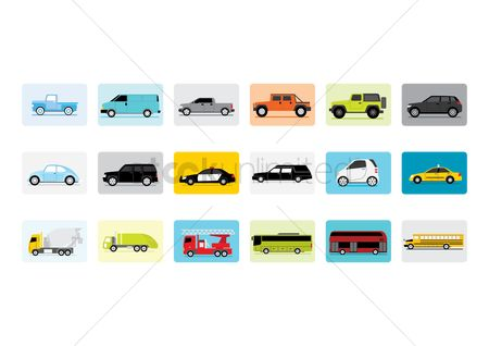 Wheel : Set of vehicle icons