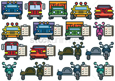 Lorries : Set of vehicles