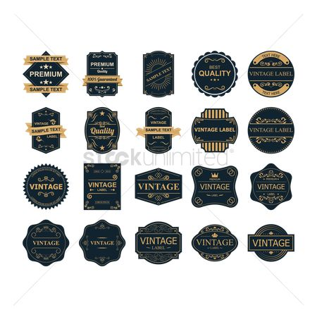 Classic : Set of vintage labels