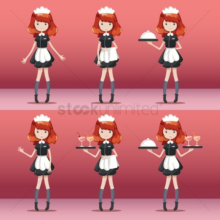 Servings : Set of waitress