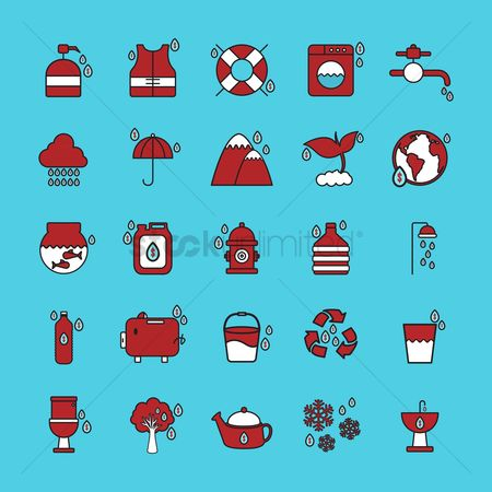 Teapot : Set of water related icons